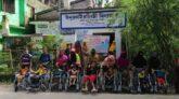 প্রধানমন্ত্রীর জন্মদিনে ইন্দুরকানীতে প্রতিবন্ধীদের মাঝে হুইল চেয়ার বিতরণ