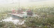 বাকেরগঞ্জের চরামদ্দিতে খাল থেকে বালু উত্তোলন, হুমকির মুখে ফসলি জমি